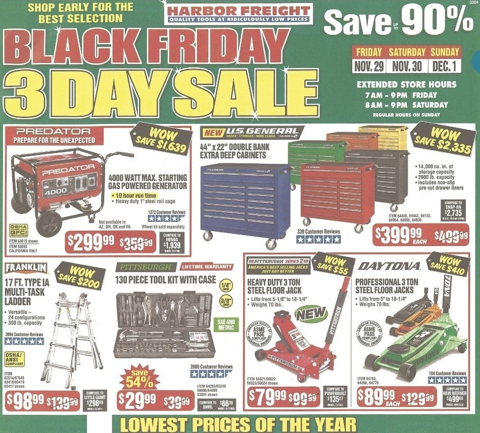 Harbor Freight Black Friday 2020 Ad