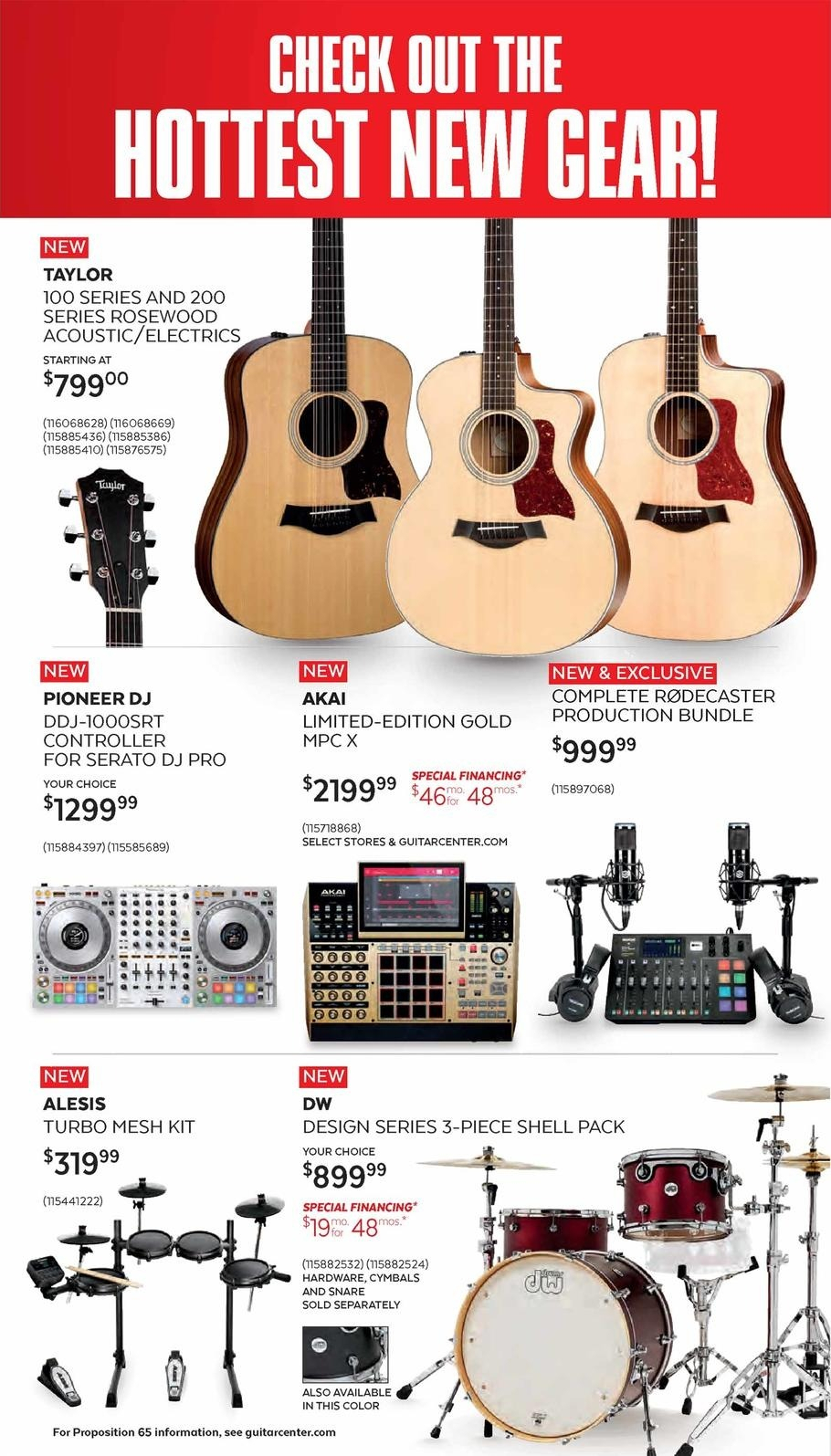 Guitar Center Black Friday 2020 Ad