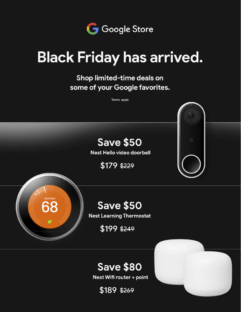 Google Store Black Friday 2020 Ad