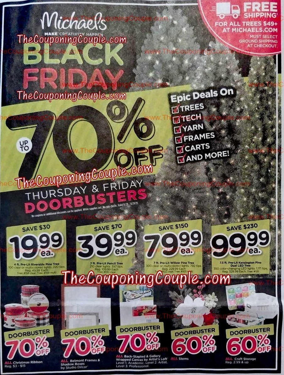 Michaels Stores Black Friday 2020 Ad