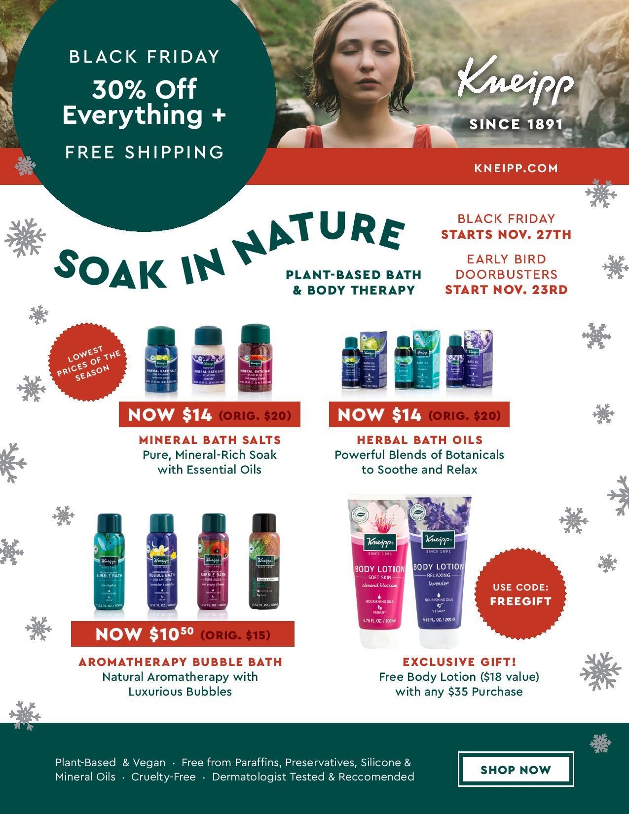 Kneipp Black Friday 2020 Ad