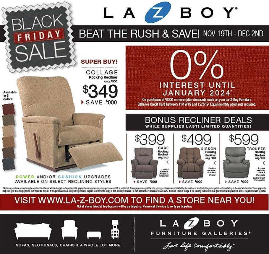 La-Z-Boy Black Friday 2020 Ad