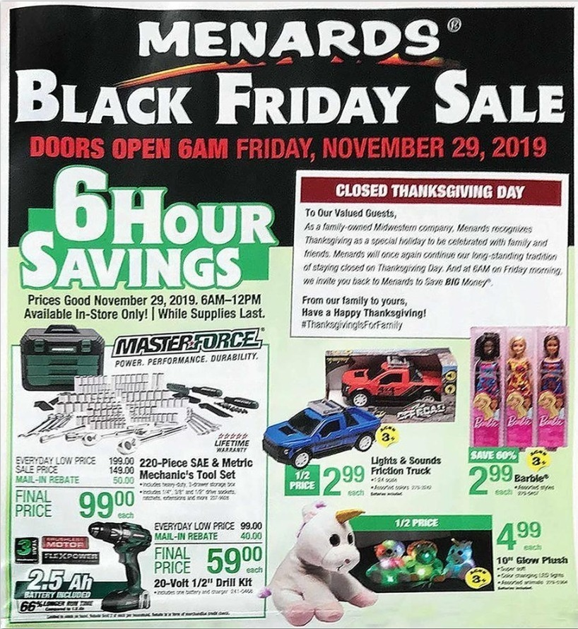 Menards Black Friday 2020 Ad