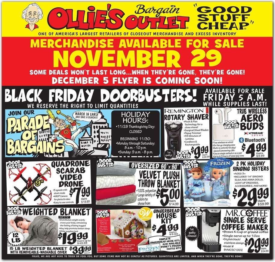 Ollie's Bargain Outlet Black Friday 2020 Ad