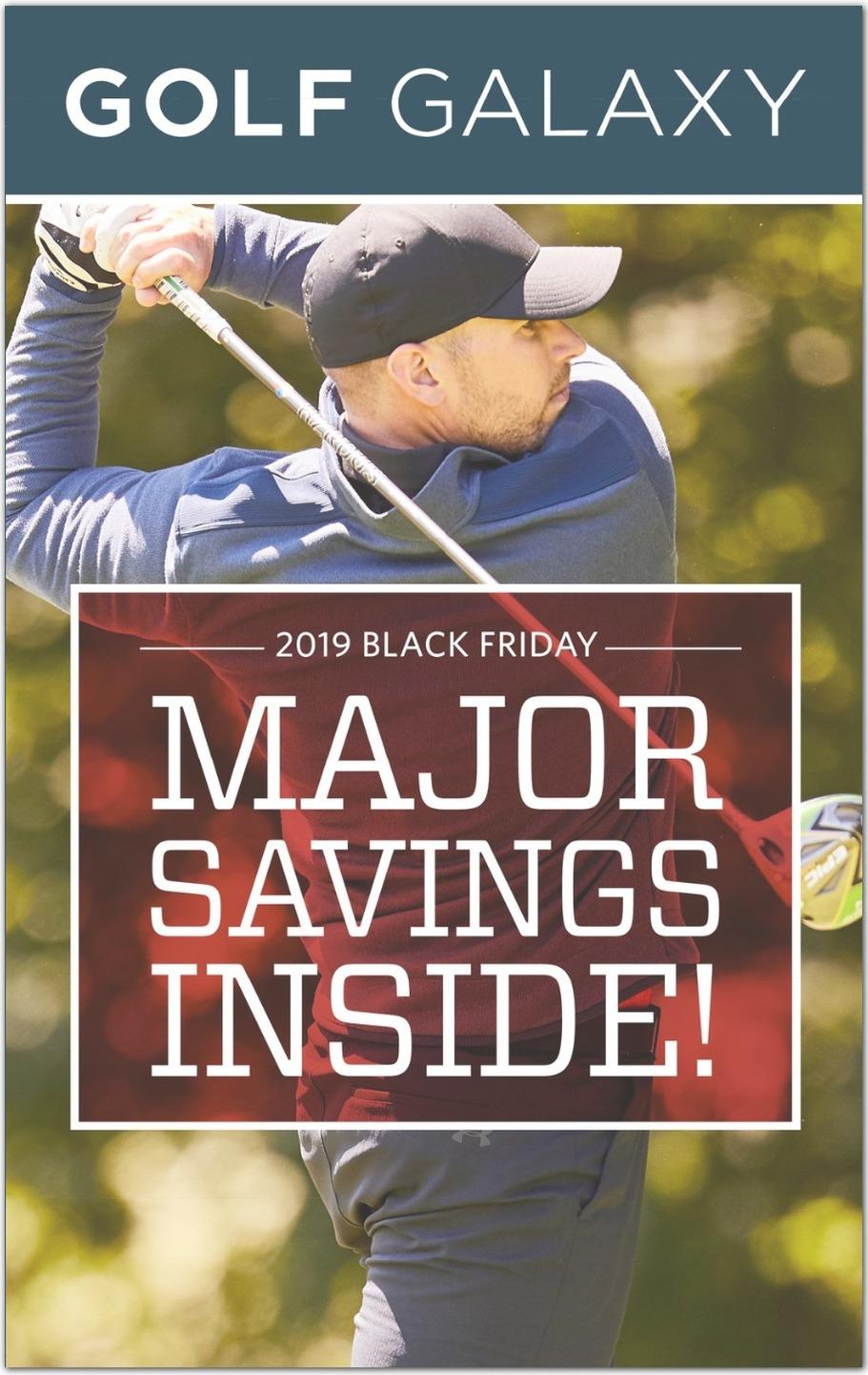 Golf Galaxy 2020黑五海報