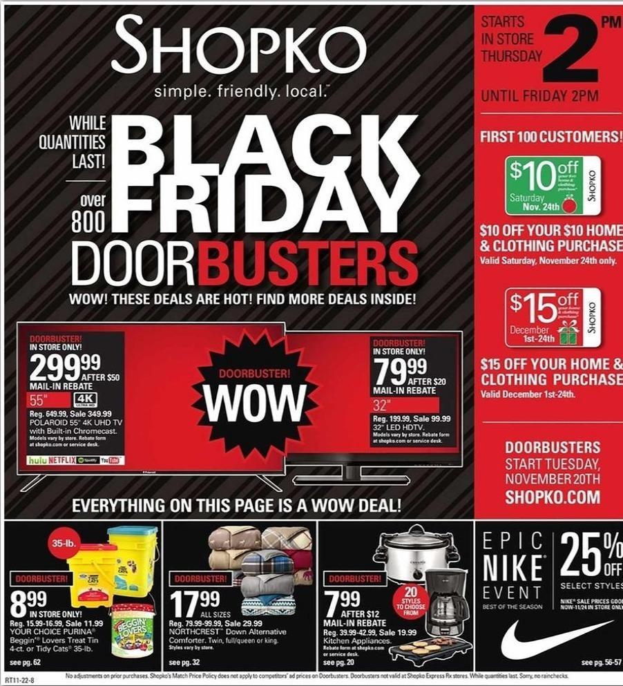 Shopko Black Friday 2020 Ad