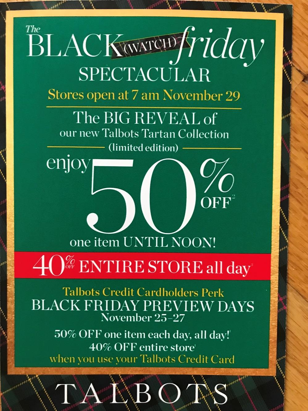 Talbots Black Friday 2020 Ad