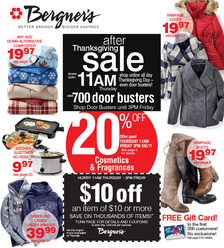 Bergner's Black Friday 2020 Ad