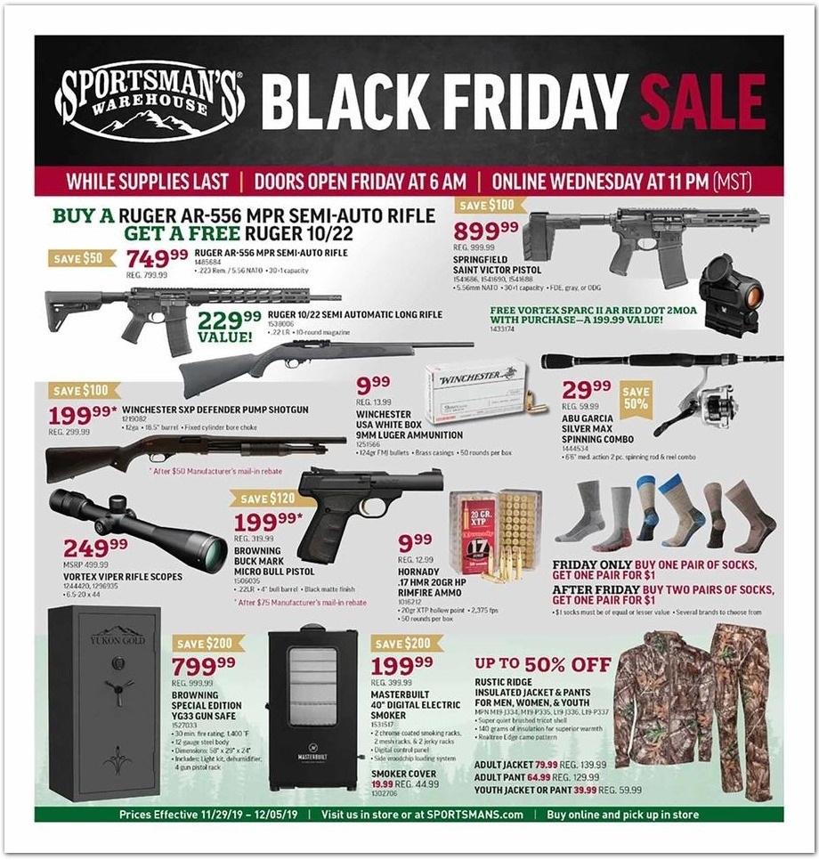 Sportsman's Warehouse Black Friday 2020 Ad