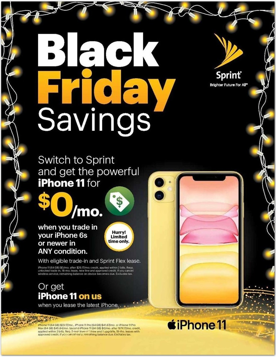 Sprint Black Friday 2020 Ad