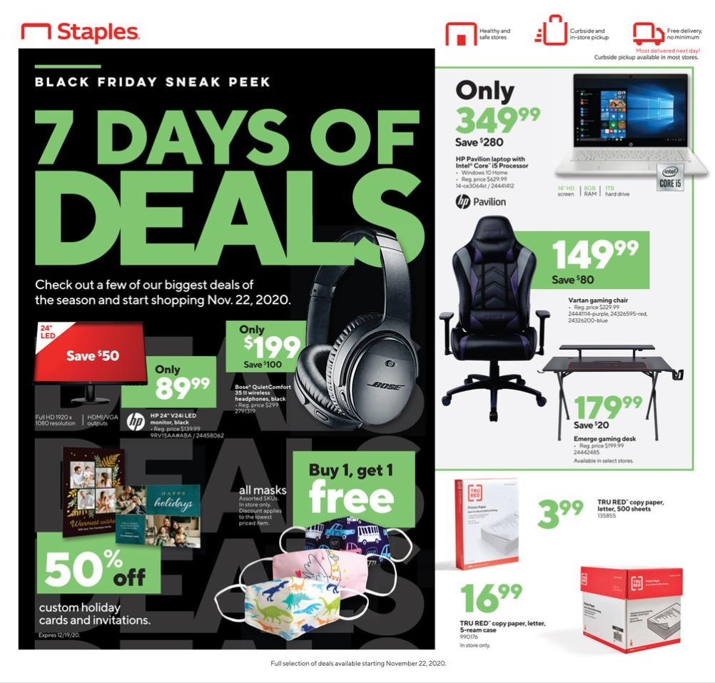 Staples Black Friday 2020 Ad