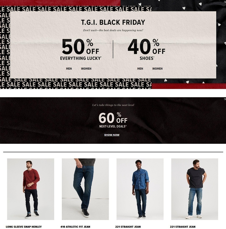 Lucky Brand Black Friday 2020 Ad