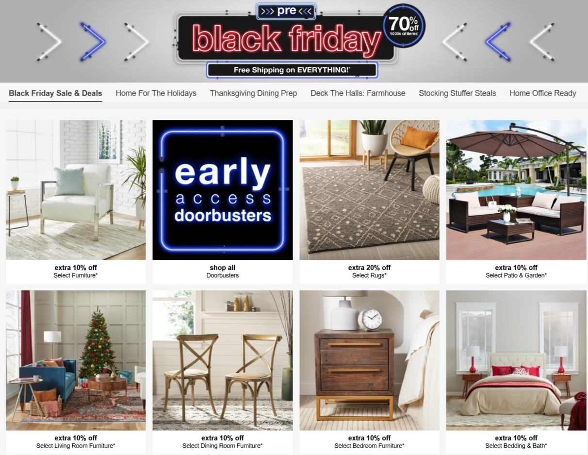 Overstock Black Friday 2020 Ad