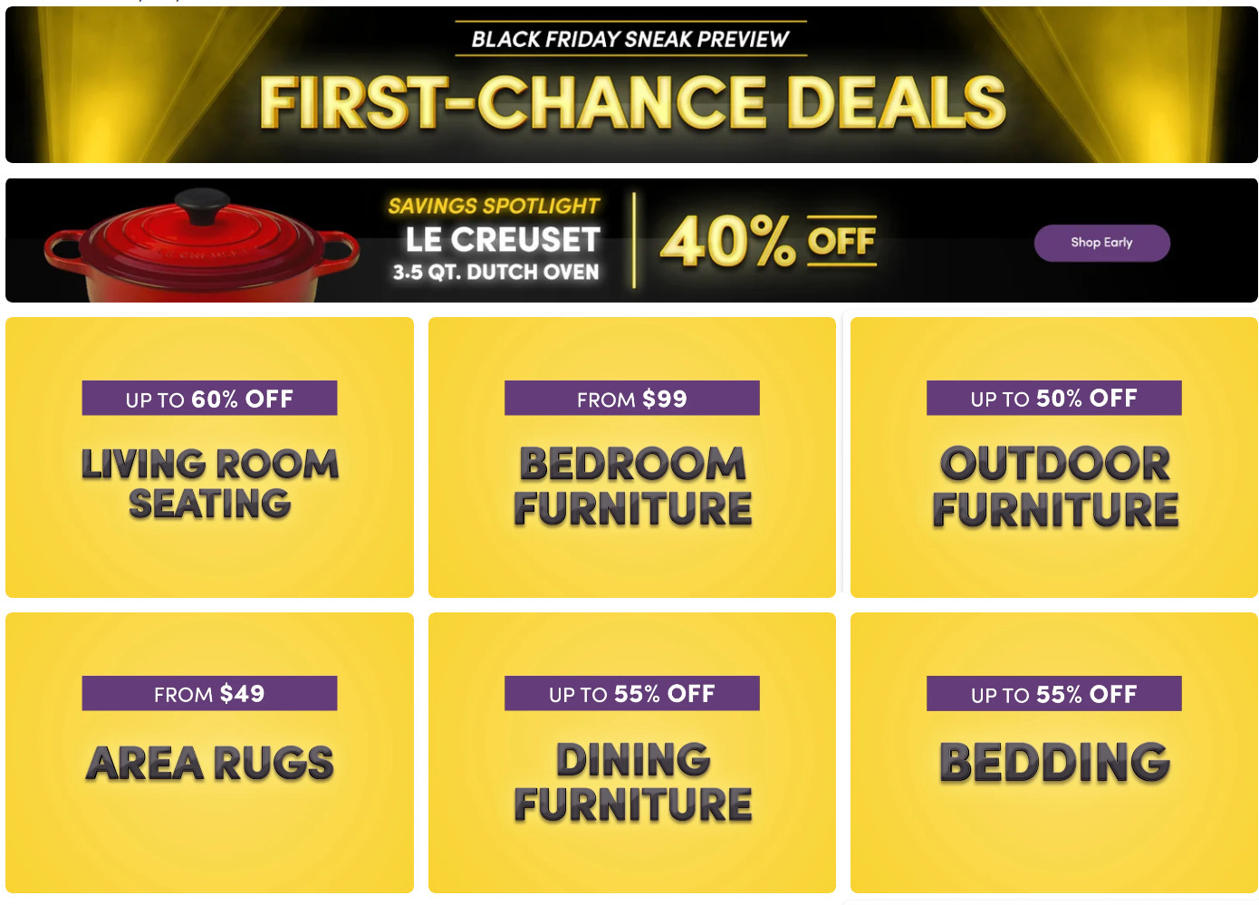 Wayfair Black Friday 2020 Ad