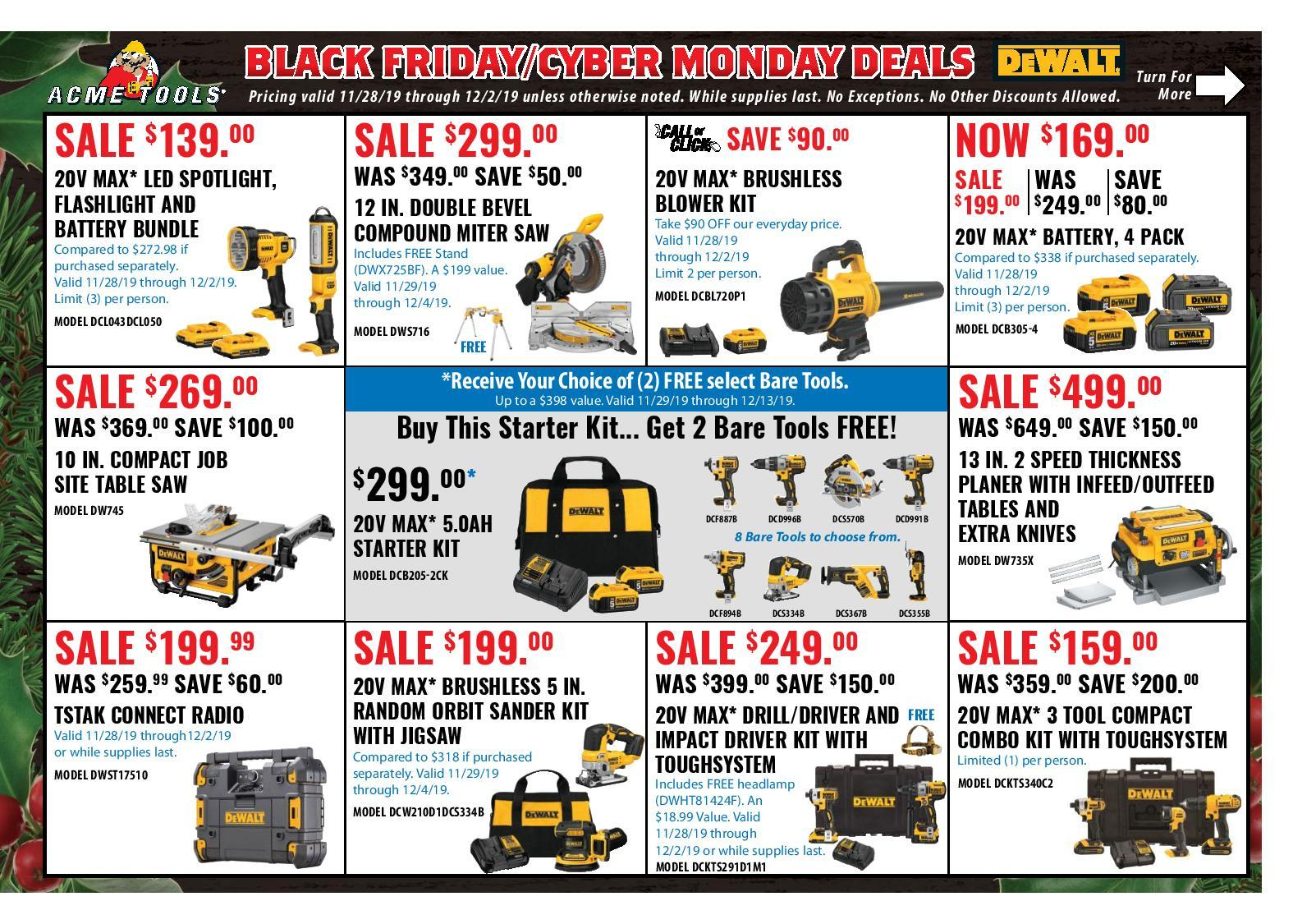 Acme Tools Black Friday 2020 Ad