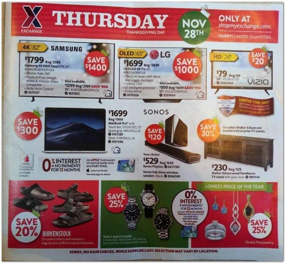 AAFES Black Friday 2020 Ad