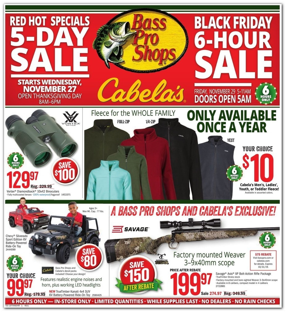 Bass Pro Shops Black Friday 2020 Ad