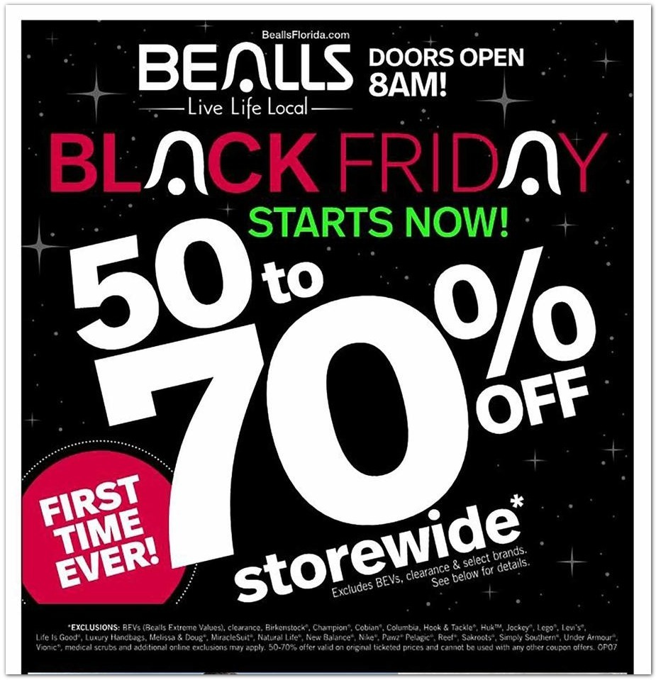 Bealls Florida Black Friday 2020 Ad