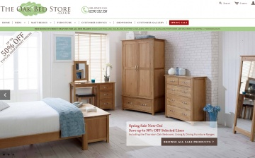 The Oak Bed Store Cashback