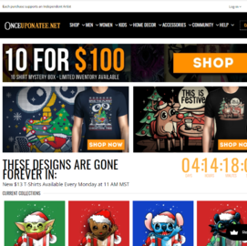 Once Upon a Tee Cashback