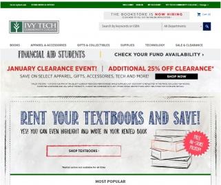Ivy Tech Community College Bookstore Cashback