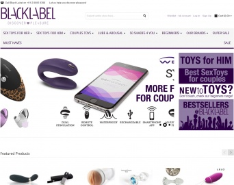 Black Label Sex Toys Cashback