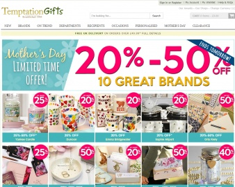 Temptation Gifts Cashback