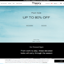 Theory Outlet Cashback