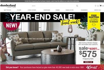 Slumberland Furniture Cashback