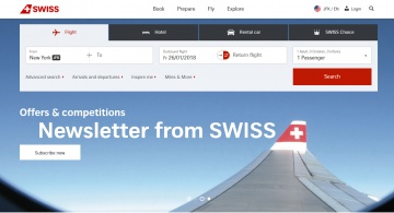 SWISS International Air Lines キャッシュバック