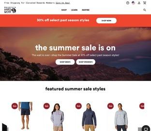 Mountain Hardwear 特價區男女夾克外套、衛衣等特賣