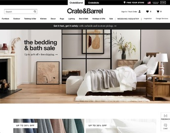 Crate & Barrel Cashback