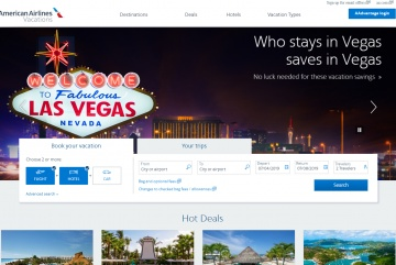 American Airlines Vacations Cashback