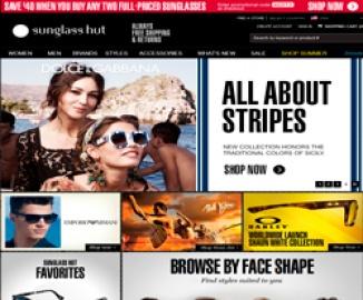 Женские солнцезащитные очки Prada, Burberry, Versace в горячей продаже @Sunglass Hut