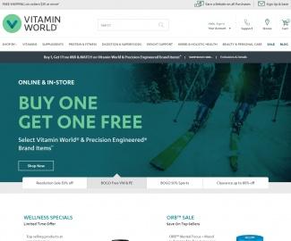 Vitamin World キャッシュバック