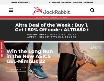 JackRabbit官網 Brooks & Asics運動鞋熱賣