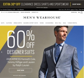 Men's Wearhouse Кэшбэк