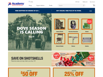 Academy Sports + Outdoors Кэшбэк