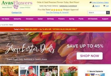 Avas Flowers Cashback