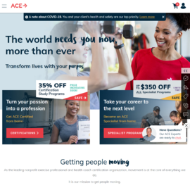 American Council on Exercise Cashback