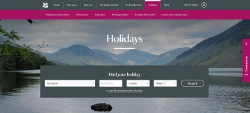 National Trust Holidays Cashback