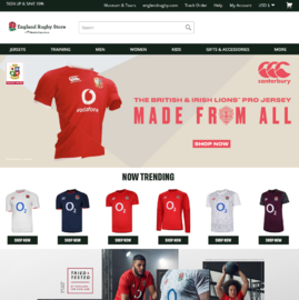 England Rugby Store Cashback