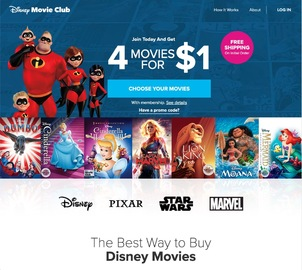 Disney Movie Club 캐시백