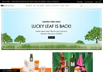 Origins UK Cashback